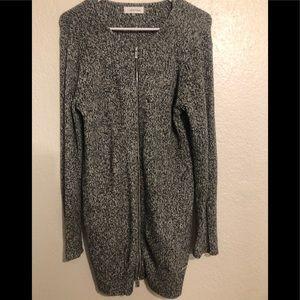 Calvin Klein cardigan zipper sweater black/white